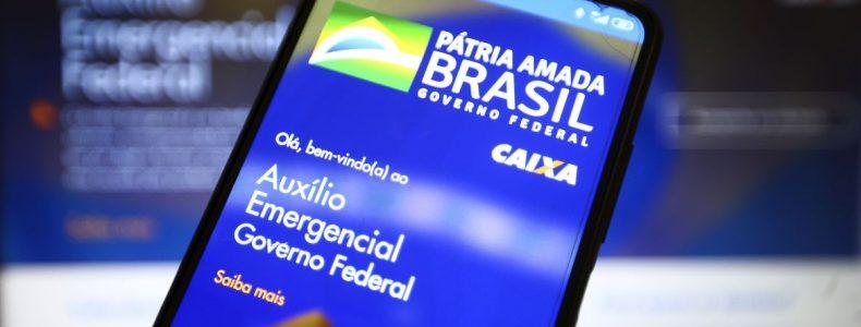 Aplicativo auxílio emergencial do Governo Federal.  *Imagem: Marcelo Camargo/Agência Brasil
