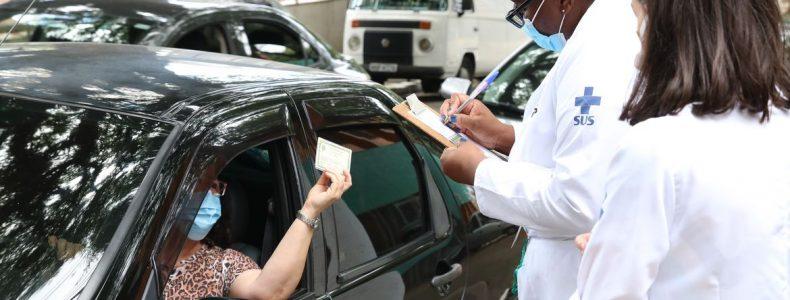 Início da vacinação contra covid-19 em pessoas acima de 90 anos na UBS Santo Amaro.  *Imagem: Rovena Rosa/Agência Brasil